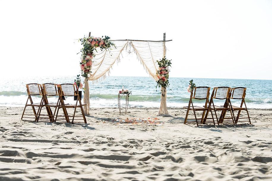 Ocean City Beach Wedding: Barefoot Beach Bride