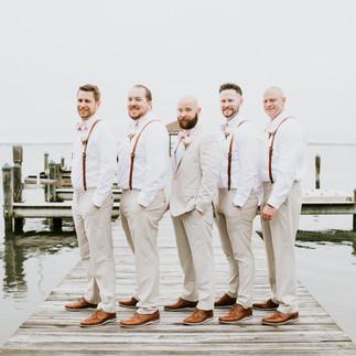 Ocean City Beach Wedding Groomsmen Baref