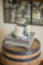 Wedding Cake Navy and gold
