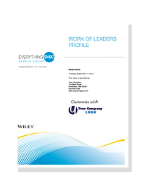 Everything DiSC Work of Leaders Profile.