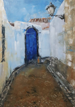 Alley in blue