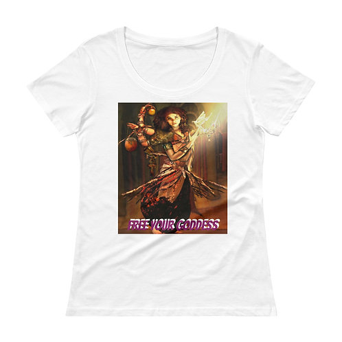 Lilith - Free Your Goddess - Ladies' Scoopneck T-Shirt
