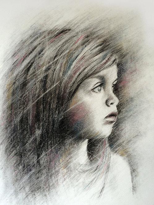 Wistful Thinking Original Drawing