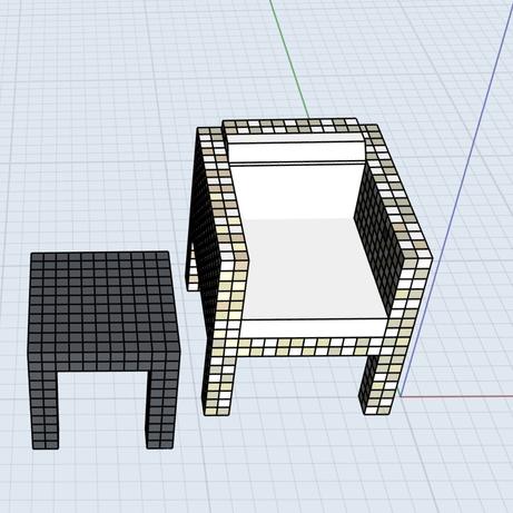 3D model of scale furniture