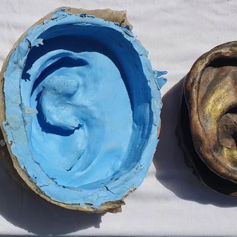 Process of ear cast.