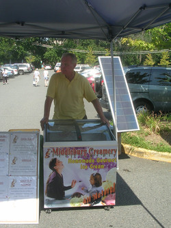 Solar powered ice cream cart