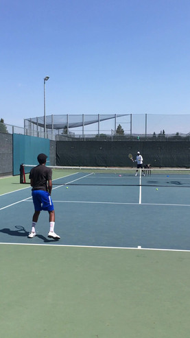 Tennis Lesson San Jose CA - moving to the ball and attack forehand and backhand