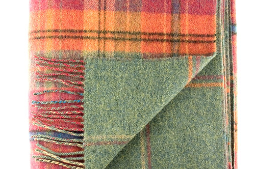 Plaid double-face lambswool 140x180 Johnstons of Elgin