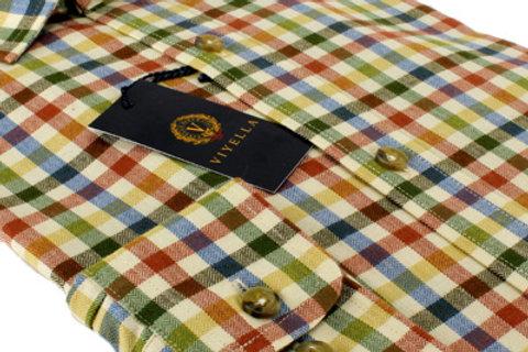 Camicia riquadri Viyella cotone-lana