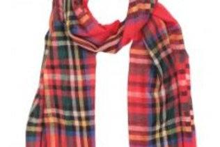 Pashmina scozzese tela di lana 70x180 Glen Prince