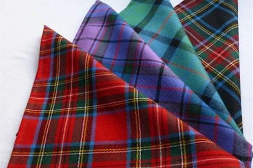 Pochette scozzesi in lana
