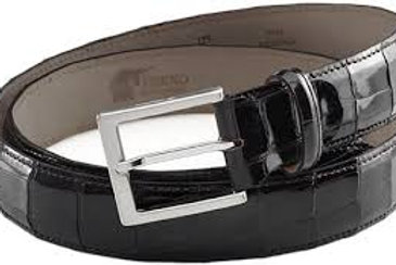 Cintura nera in coccodrillo