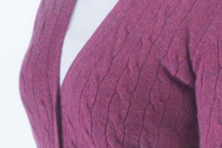 Cardigan a trecce William Lockie donna geelong lambswool