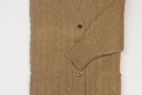 Cardigan a trecce William Lockie donna geelong lambswool1