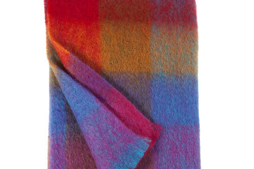Plaid riquadri mohair 130x180 Eagle Products