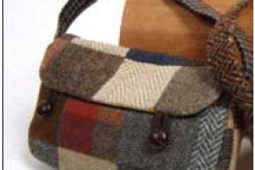 Borsa lana patchwork Satchel Hanna Hats