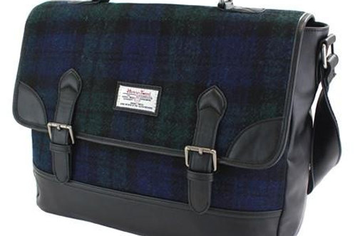 Cartella British Bag Company pelle-Harris Tweed