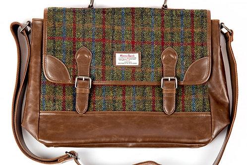 borsa British Bag Company pelle-Harris Tweed