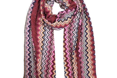 Sciarpa zigzag tricot  lambswool 30x180 Lochcarron