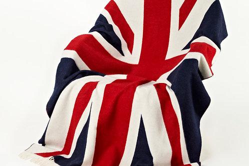 Plaid Union Jack lambswool 135x200 Bronte Tweed