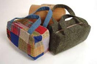 Borsa lana patchwork Handbag Hanna Hats