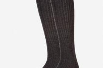 Calza Wolsey grip top lunga unita a coste lana