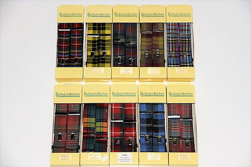 Assortimento di bretelle scozzesi Ingles Buchan