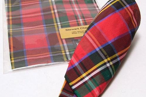 Pochette scozzese di seta