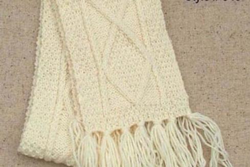 Sciarpa aran lana irlandese 20x140 fatta a mano John Molloy