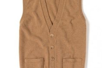 Gilet uomo camelhair 2 fili William Lockie