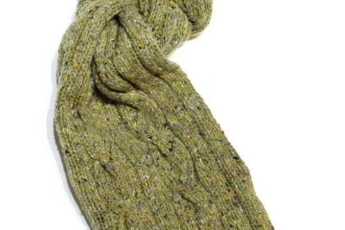 Sciarpone a trecce lana irlandese 25x180 Fisherman