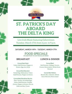 Delta King St. Patrick's Day 2020