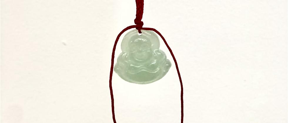 Small White Buddha Necklace