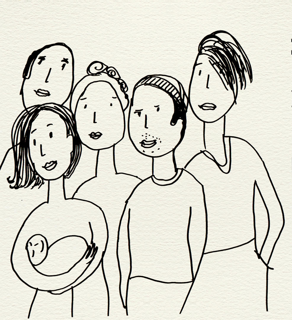Familie Adler Skizze