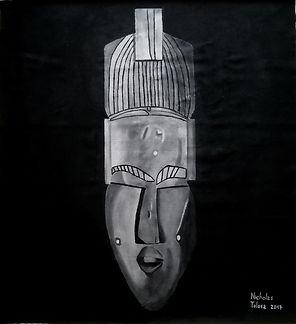 Zwanga - idropittura su juta - 112 x 123