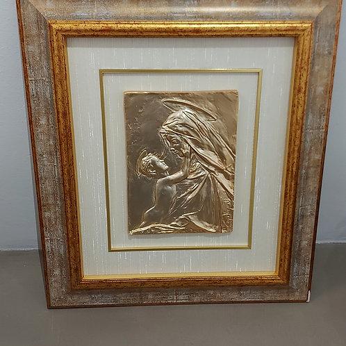 MATER Bassorilievo in bronzo dorato di Sergio Verginelli