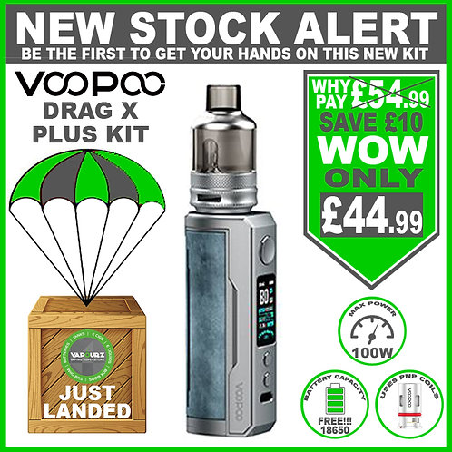 Voopoo Drag X Plus Kit Prussian Blue & FREE 18650 Battery