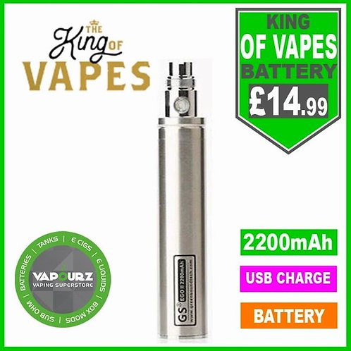 The King Of Vapes EGO-11 2200mAh Battery Stainless Steel