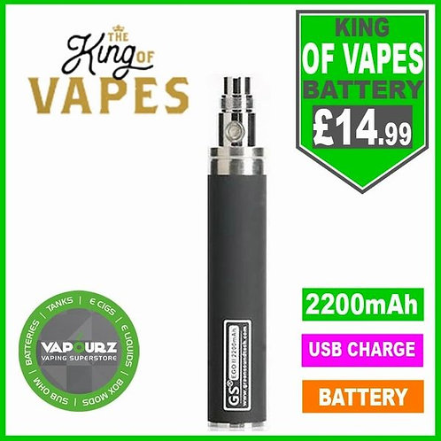 The King Of Vapes EGO-11 2200mAh Battery Black