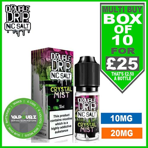 Box Deal Crystal Mist Double Drip Nic Salts