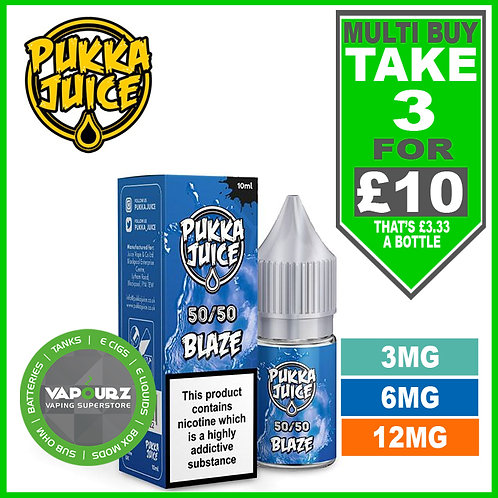 Blaze 10ml 50/50 Pukka Juice
