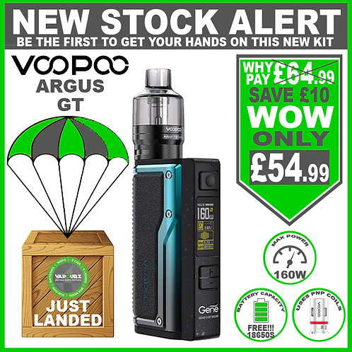 Voopoo Argus GT Kit Black &  Blue Plus 2 x FREE 18650 Batteries