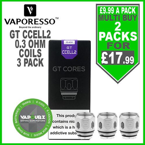 Vaporesso GT Ccell2 Coils 3 Pack
