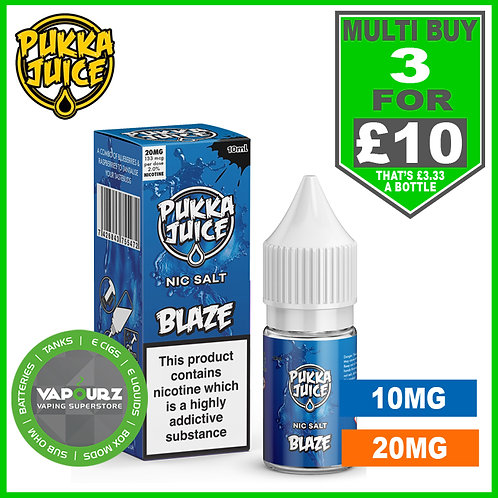 Pukka Blaze Nic Salt 10ml