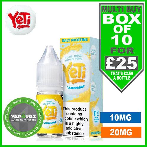 Box Deal Lemonade Yeti Nic Salts