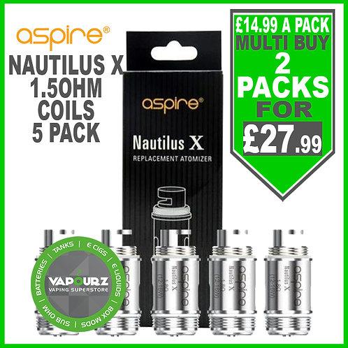 Aspire Nautilus X Coils 1.5ohm 5 Pack