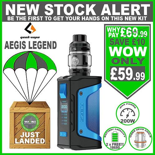 Geekvape Aegis Legend Zeus Kit Light Blue & 2 x FREE 18650's