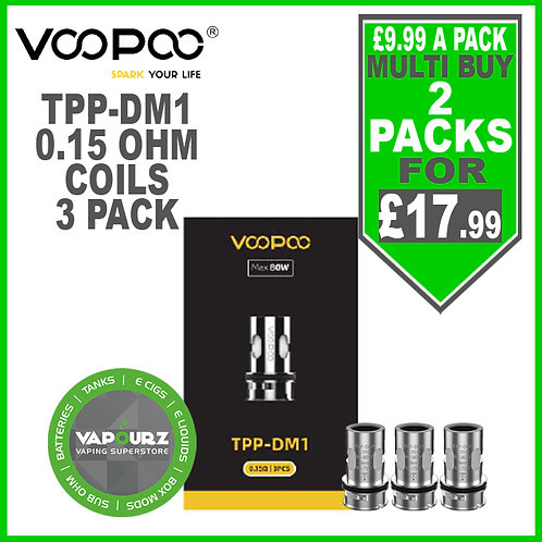 Voopoo TPP DM1 Coils 0.15ohm 3 Pack