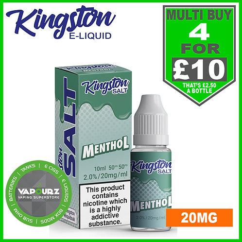 Kingston Menthol Nic Salt 20mg