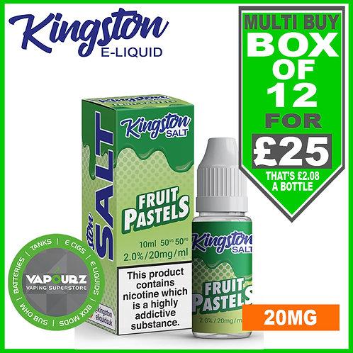 Box Deal Kingston Fruit Pastels Nic Salt 20mg